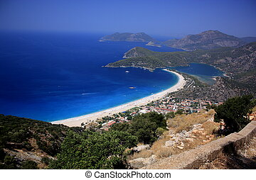 Overlooking Oludeniz - A view of Oludeniz as seen from the...