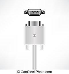 VGA Port - VGA Monitor Interface plug & socket (part of the...