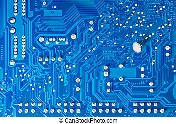 Computer circuit board - Close up of computer circuit board