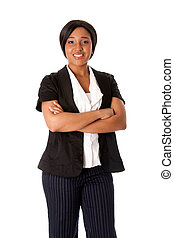 Smiling business woman - Beautiful attractive smiling...