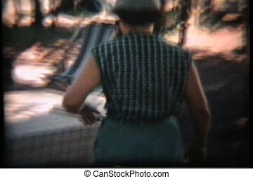 Camping Holiday 1958 Vintage 8mm - A family goes on a summer...