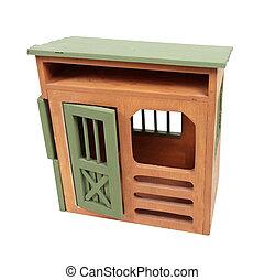 Wooden Storage Shed - Wooden storage shed with a traditional...