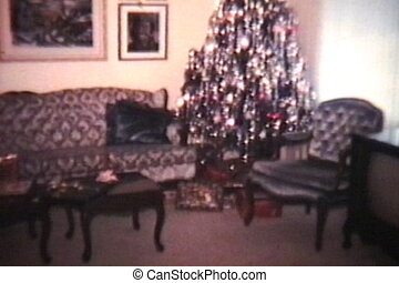 Christmas Time 1977 - A shot of a living room that has been...