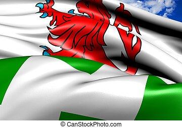 Flag of Westland. Close up.