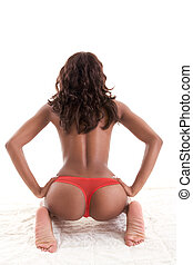 Sensual African-American black woman - Beautiful ass...