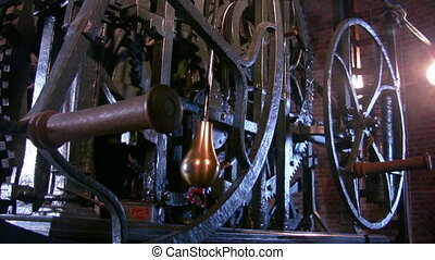 Wheels of clock, Nieuwe Kerk, Delft - Wheels of Tower clock...