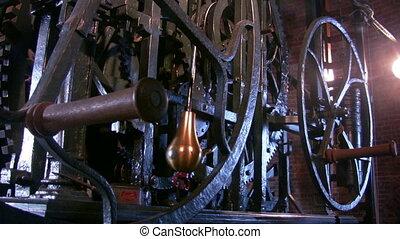 Wheels of clock, Nieuwe Kerk, Delft - Wheels of Tower clock...
