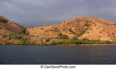Komodo island at sunset, Indonesia