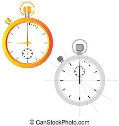 Golden watch. Outline
