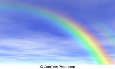 Rainbow  in the sky (seamless loop)