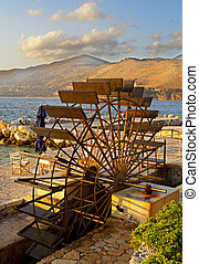 Traditional water mill in Greece - Traditional water mill at...