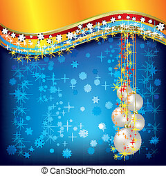 Abstract Christmas greeting with white balls