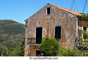 Greek traditional house at Stavros village of Ithaki island...