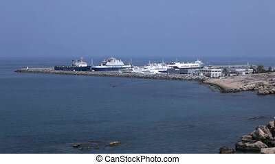 Harbor of Kyrenia, North Cyprus - View on harbor from...