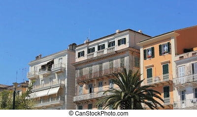 Buildings in old city, Kerkyra - Typical buildings in old...