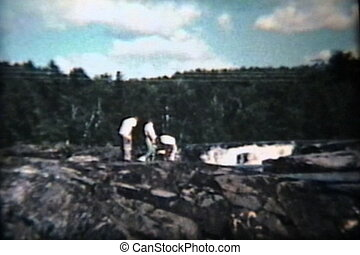 Family Visits Waterfall (1958)