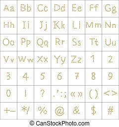 Alphabet from human footprint - Vector, alphabet from human...