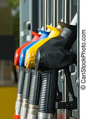 Gasoline pump nozzle photo