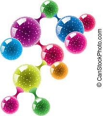 abstract molecule or microbe - vector abstract molecule or...
