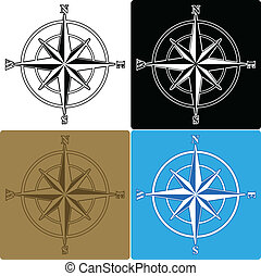 Compass Roses - Set of isolated compass roses