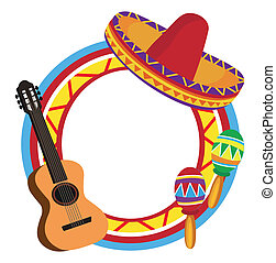 marco, mexicano, símbolos