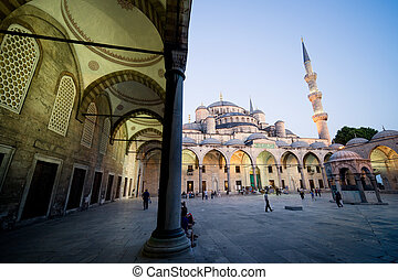 Blue Mosque at Dusk - Blue Mosque (Sultan Ahmet Camii)...
