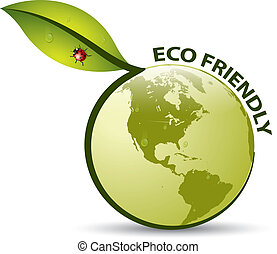 Vector Green ECO FRIENDLY Label