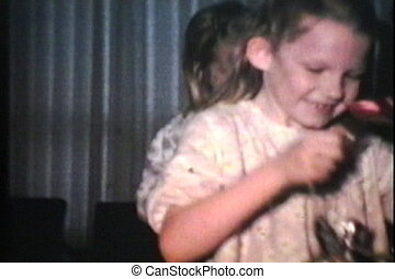 Kids Get Easter Treats 1973 - Cute kids get wonderful...