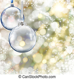 Christmas ball - Christmass glass ball on glowing background