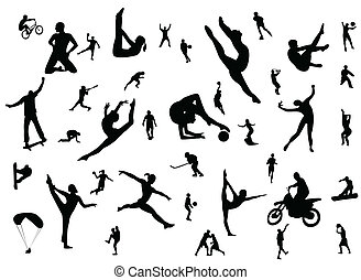 sport - silhouette of sport player
