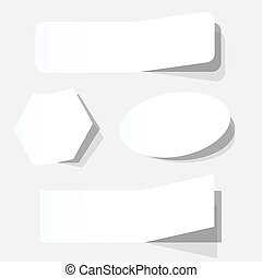 white blank advertising coupons set