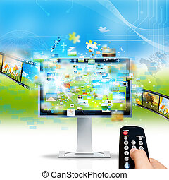 Television streaming - Modern television streaming image and...