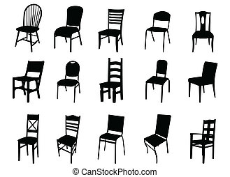 chair - black chair on white background