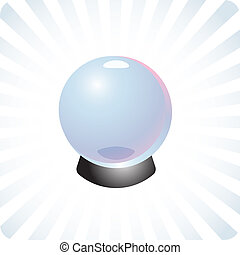 Future prediction crystal ball illustration - Fortune...