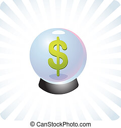 Financial prediction crystal ball illustration - Financial...