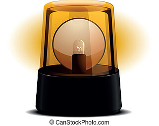 Orange Flashing Light - detailed illustration of an orange...