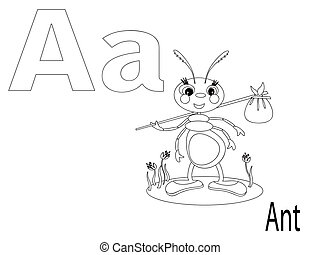 Coloring Alphabet for Kids, A