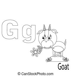 Coloring Alphabet for Kids, G