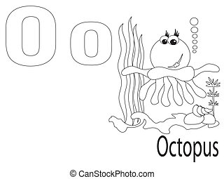 Coloring Alphabet for Kids, O