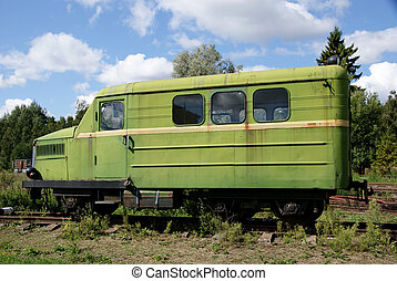 The railway car