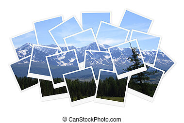 Landscape, collage of photos for your design