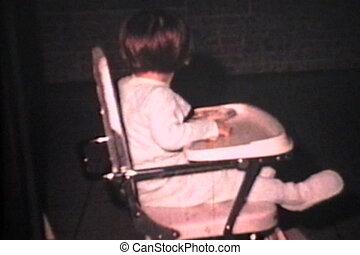 Little Girl Avoids Bright Camera