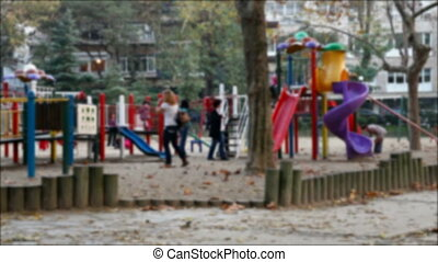 children playing in the park 2 - children playing in the...