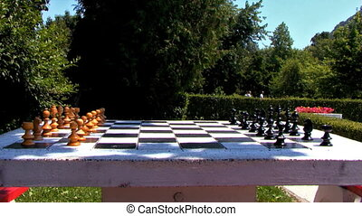 Chess Table In Park Summer - Chess Table in the park, summer...