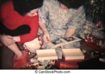 New China For Christmas 1962 - A family enjoys opening up...