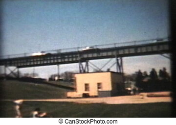 New Bridge With Locks Opens (1960) - A cool clip of a family...