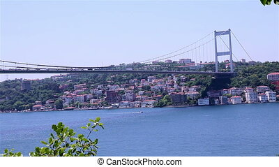 Bosphorus - istanbul strait and sea traffic between Asia and...