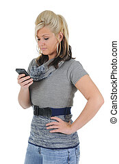 Attractive Woman Using a Smart Phone 01