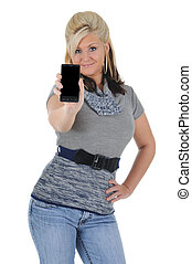 Attractive Woman Using a Smart Phone 03