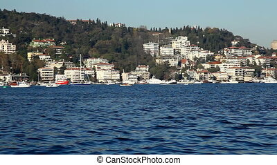 The Bosphorus - one of the Bosphorus and connecting Europe...